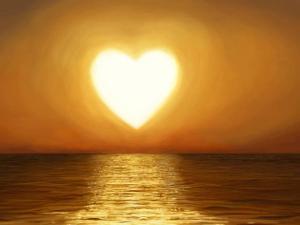 heart shining