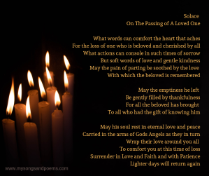 Solace on the passing of a loved one