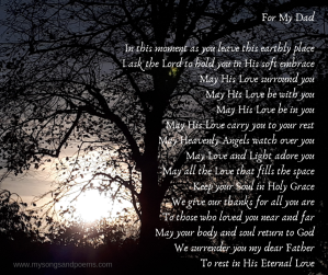 Prayer on the passing