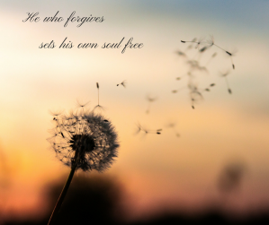 He who forgives sets his own soul free