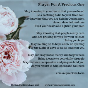 Prayer for a precious one