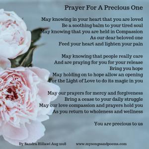 Prayer for a precious one