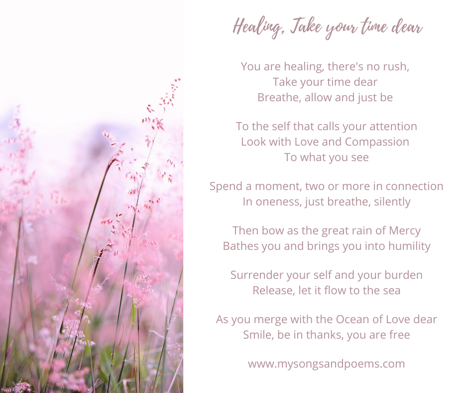 healing take your time dear